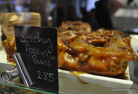 Sticky Pecan Buns at Flourtown Bakery in Brighton
