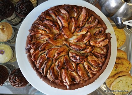 Apple &Hazelbut Tart at Sugardought Bakery in Hove